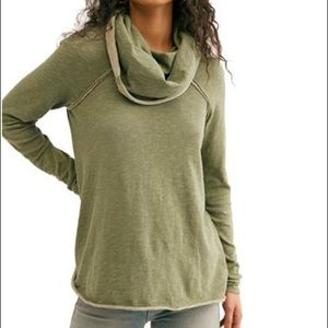 Free People Beach Cocoon Cowl Pullover Sweater